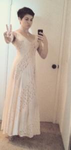 Vintage Lace Slip, #selfie