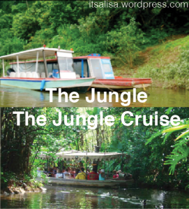 The Tropical Rainforest in Costa Rica versus the Jungle Cruise.  Jungle Cruise photo retrieved from http://www.sandcastlevi.com/