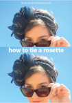 how to tie a scarf in a rosette headband | itsaLisa.com