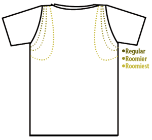 Back of Shirt - Arm Hole Styles