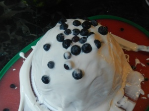 watermelon cake blueberries