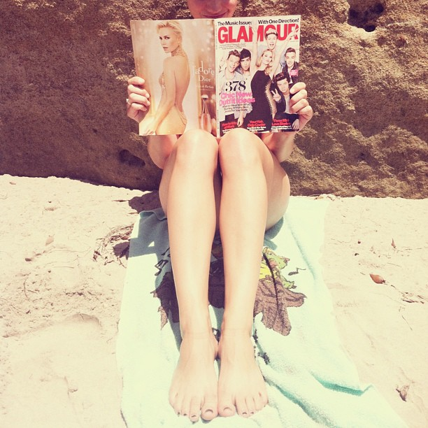 Glamour on the beach with One Direction