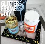 glitter frame diy