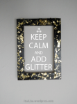 keep calm add glitter