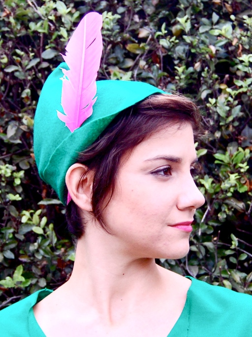 Peter Pan Hat, felt and feather craft