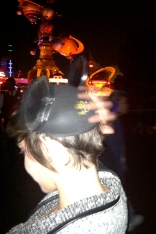 Tomorrowland and Mickey Mouse Ears, Disneyland at Night