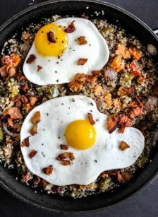Sweet Potato Hash, Thanksgiving for Breakfast!