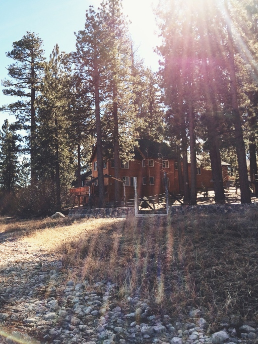 Log Cabin and Setting Sun, Big Bear California | itsaLisa.com