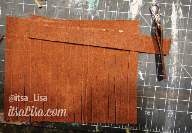 Making Leather Tassel Keychains | DIY @ itsaLisa.com