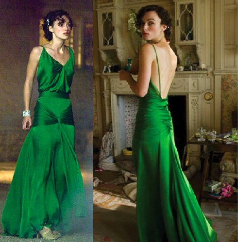 Keira Knightley's Green Dress from Atonement