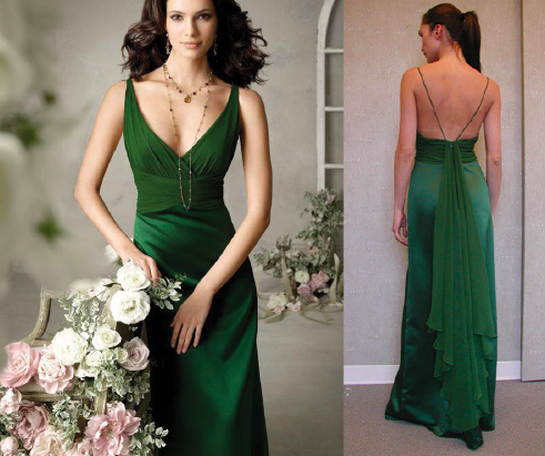 Green Dress, Formal Evening Gown by victoriasdresses.com