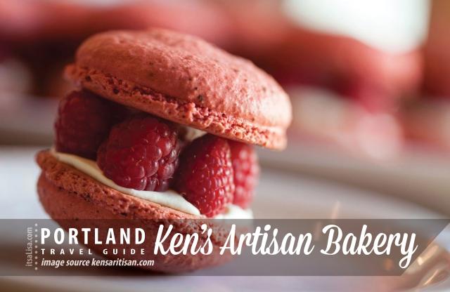Raspberry Macarons from Ken's Artisan Bakery, Portland | itsaLisa.com