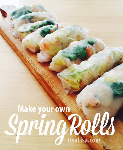 Make your own Spring Rolls, follow this simple recipe for a healthy snack| itsaLisa.com