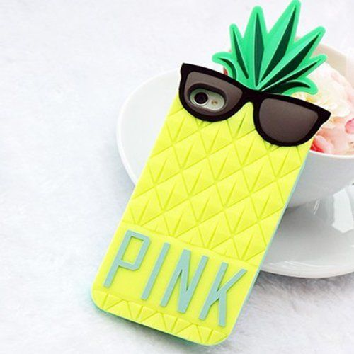 Pineapple iPhone 5 Case with Sunglasses (PINK) | New hot looks for summer that will keep your phone safe, on itsaLisa.com