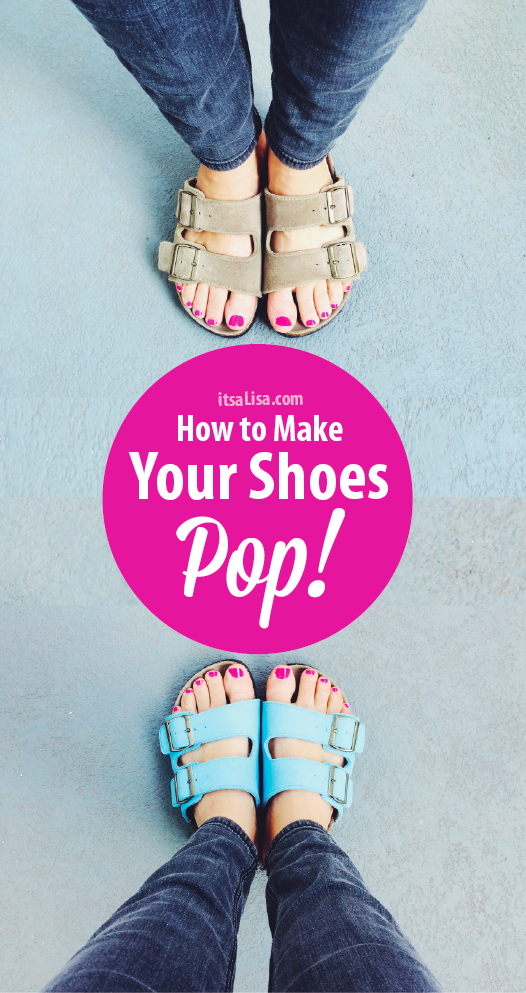 sky blue sandals for summer! #DIY itsaLisa.com