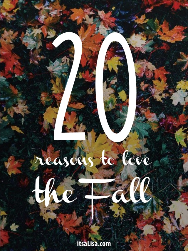 20 reasons to love fall | itsaLisa.com