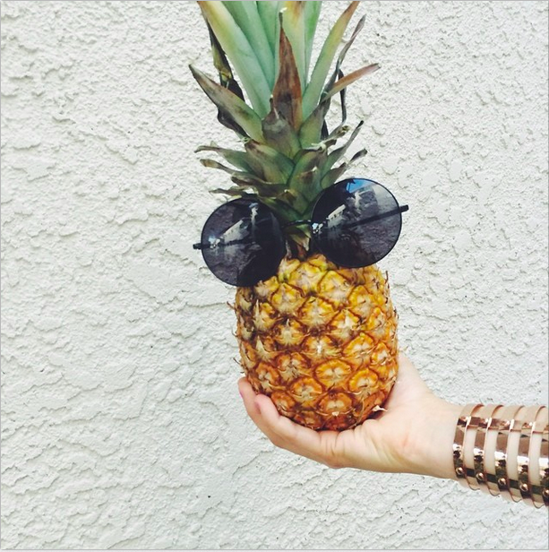 pineapple sunglasses summer love