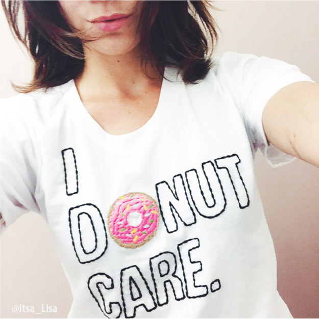 I Donut Care Tshirt from the lovely ladies at & APPAREL