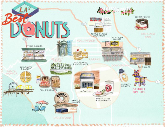 LA's BEST DONUTS MAP! | A Guide to the Best Donuts in LA | Photo by Studio DIY | Keep Reading For 7 Donut Tips That Will DEFINITELY Change Your Life at https://itsalisa.com/2016/01/31/california-donuts/