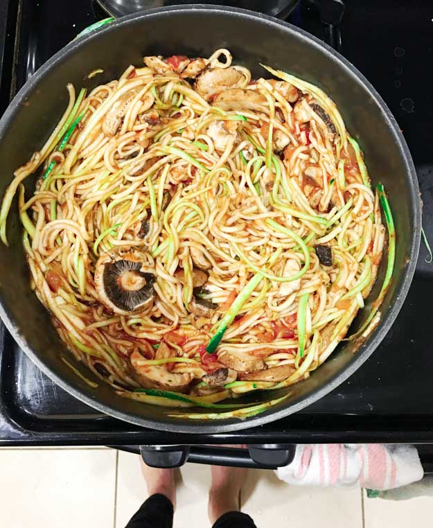 Zucchini Noodle Pasta   Healthy Dinner Recipes