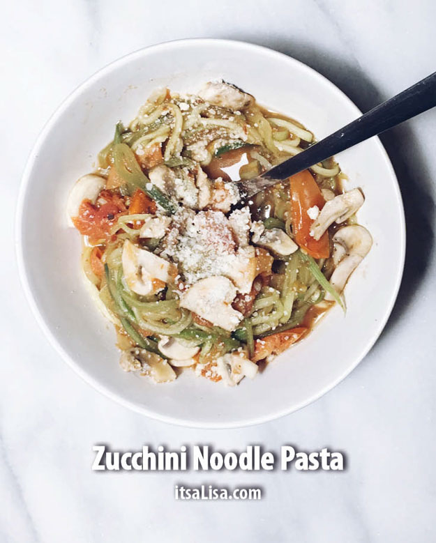 Zucchini Noodle Pasta | Healthy Dinner Recipes In Under 10 Minutes