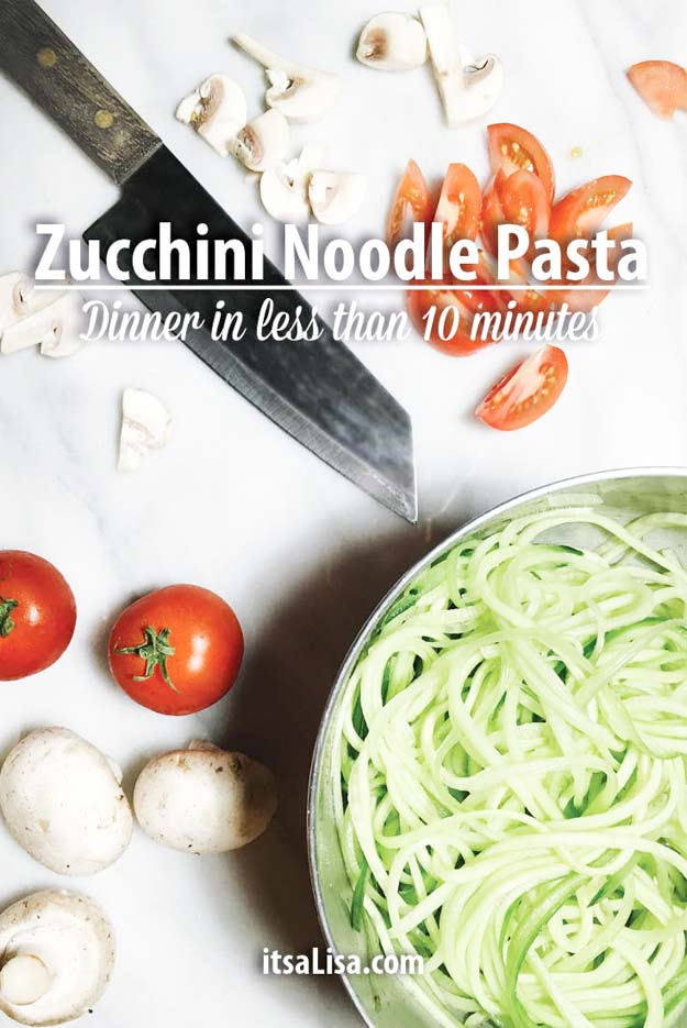 Zucchini Noodle Pasta | Easy Healthy Dinner Recipes