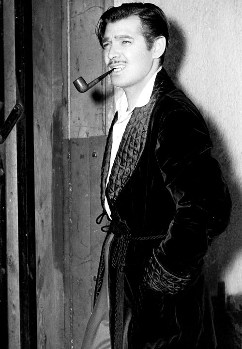 Clark Gable In A Smoking Jacket | 10 Man Cave Ideas For Real Men