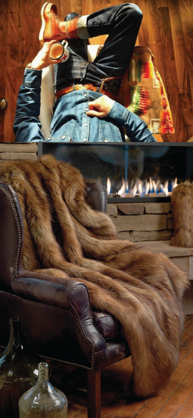 A fur throw, a fireplace, a leather chair, and a glass of whiskey. What more could you want in your man cave? | 10 Man Cave Ideas For Real Men