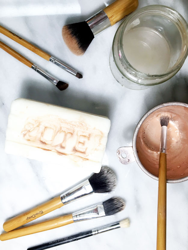 Follow these steps for super clean makeup brushes in minutes