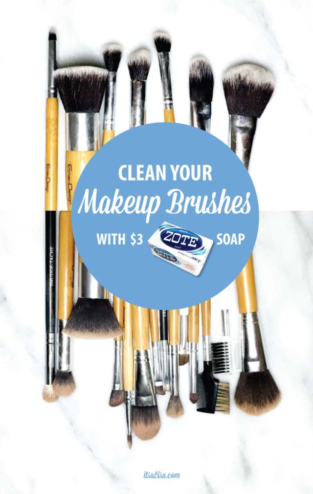 How To Wash Makeup Brushes With ZOTE Soap - A Cheap & Easy $3 Solution To Beautiful Clean Brushes!