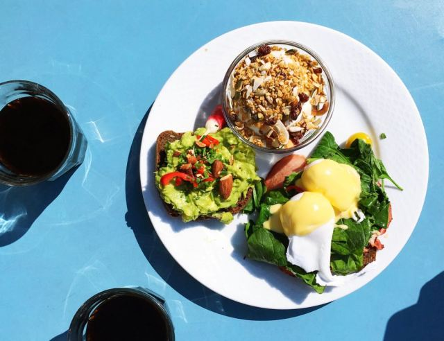 Best Brunch in Copenhagen. Eggs Benedict, Muesli, and Avocado Toast at dyrehaven   Muesli Recipes