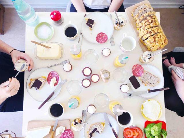 Muesli and Brunch Table Spread in Cophenhagen   Muesli Recipes
