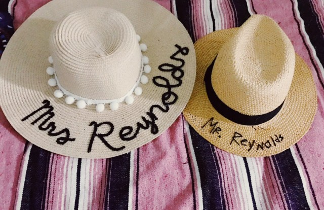 easy diy embroidered sun hat | great couples honeymoon gift