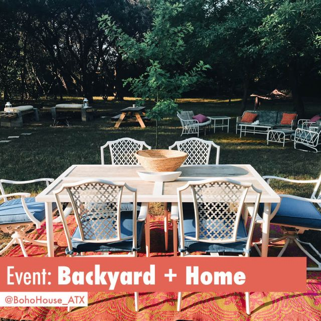 Colorful and Comfy HUGE Backyard in Austin Texas available for event bookings | Book BohoHouse_ATX on Peerspace For Events and Photoshoots!