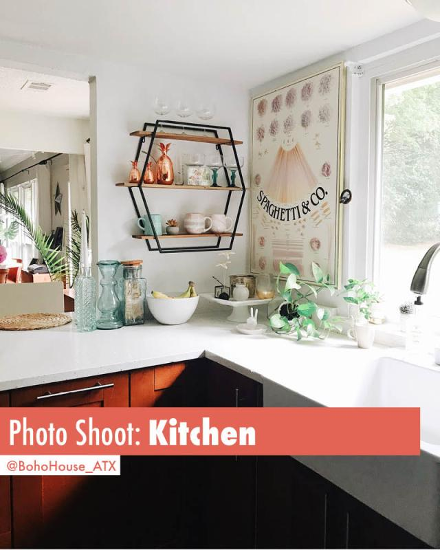 Book this cute updated midcentury modern kitchen for photoshoots | Book BohoHouse_ATX on Peerspace For Events and Photoshoots!