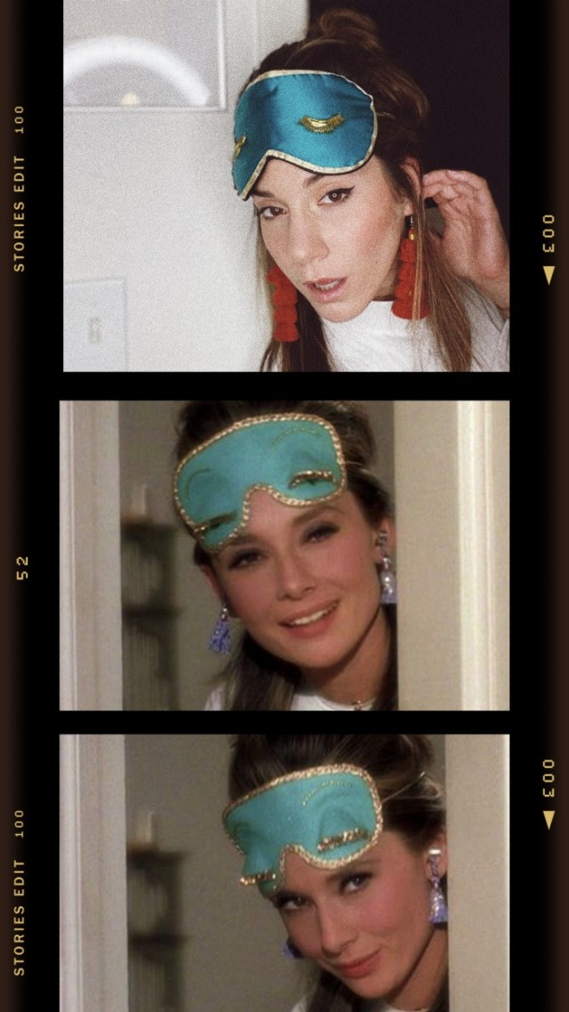 holly golightly costume idea sleep mask
